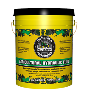 AS Agricultural Hydraulic Fluid 5Gal Pail Front. 2019